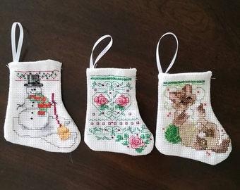 Mini Christmas Stockings Set of Three  ( Choice  F )