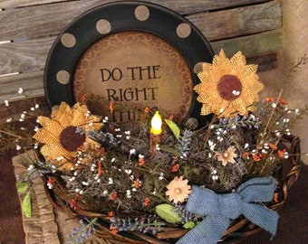 """Big """"Do the Right Thing"""" Floral Basket"""