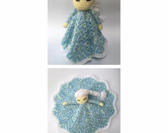 Crochet Princess Lovey Dolls - Elsa