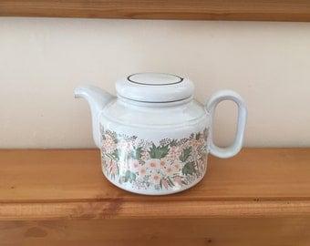 Vintage Hornsea Pottery Cascade Pattern Teapot