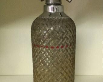 Vintage Sparkles Wire Mesh Seltzer Bottle