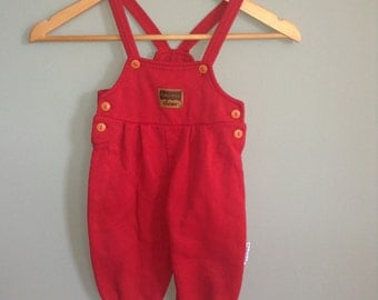 Vintage Boy's Overalls Size 12 Months by Fisher Price Kid's Wear