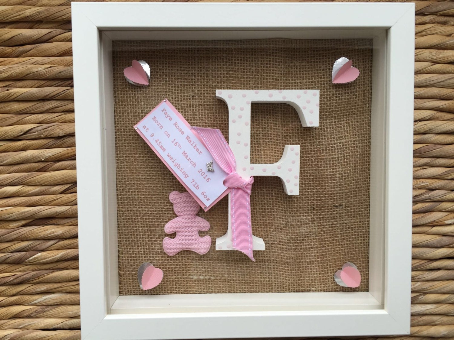 Personalised New Baby Or Christening Frame Gift With