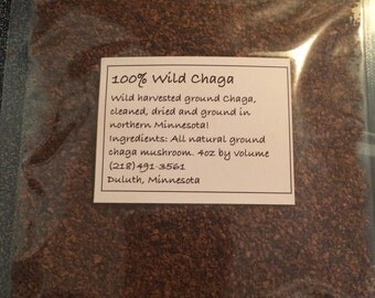100% Wild Harvested Ground Chaga