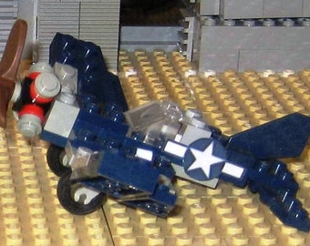 "LEGO Custom F4U Corsair in 1/108 [1""=9'] scale"