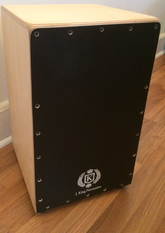 Flamenco Cajon w/Knob Adjustable String Tension - Black Satin Finish
