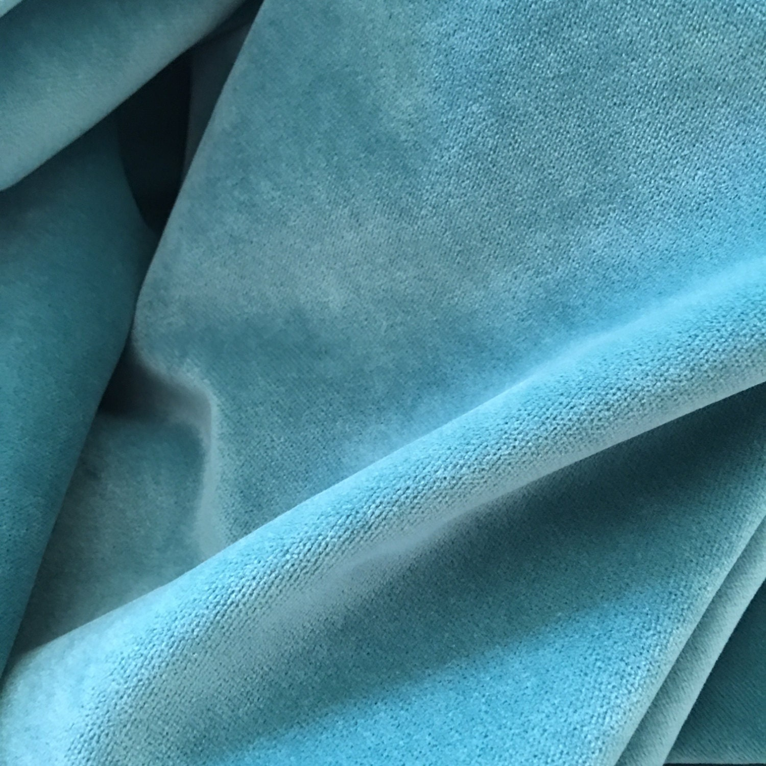 Bradberry Downs Blue Aqua Teal Light Green Yellow Wool: Aqua Teal Blue Velvet Fabric By MixInteriors On Etsy
