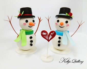Snowman Christmas Ornament Paper Quilling - friendship -snowman ornament,quilling snowman,Christmas decoration, Christmas gift, Cute snowman