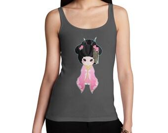 Women's Hanako Pink Tank Top