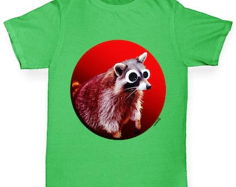 Boy's Googly Eyes Racoon T-Shirt