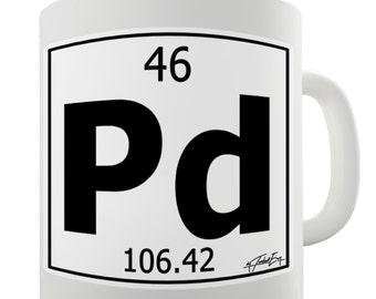 Periodic Table Of Elements Pd Palladium Ceramic Novelty Gift Mug