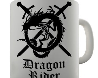 Dragon Rider Ceramic Tea Mug