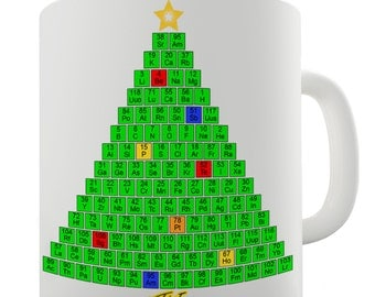 Periodic Table Christmas Tree Ceramic Mug
