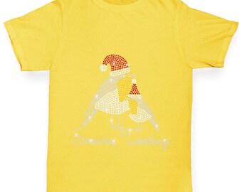 Boy's Seasons Greetings Rhinestone Diamante T-Shirt