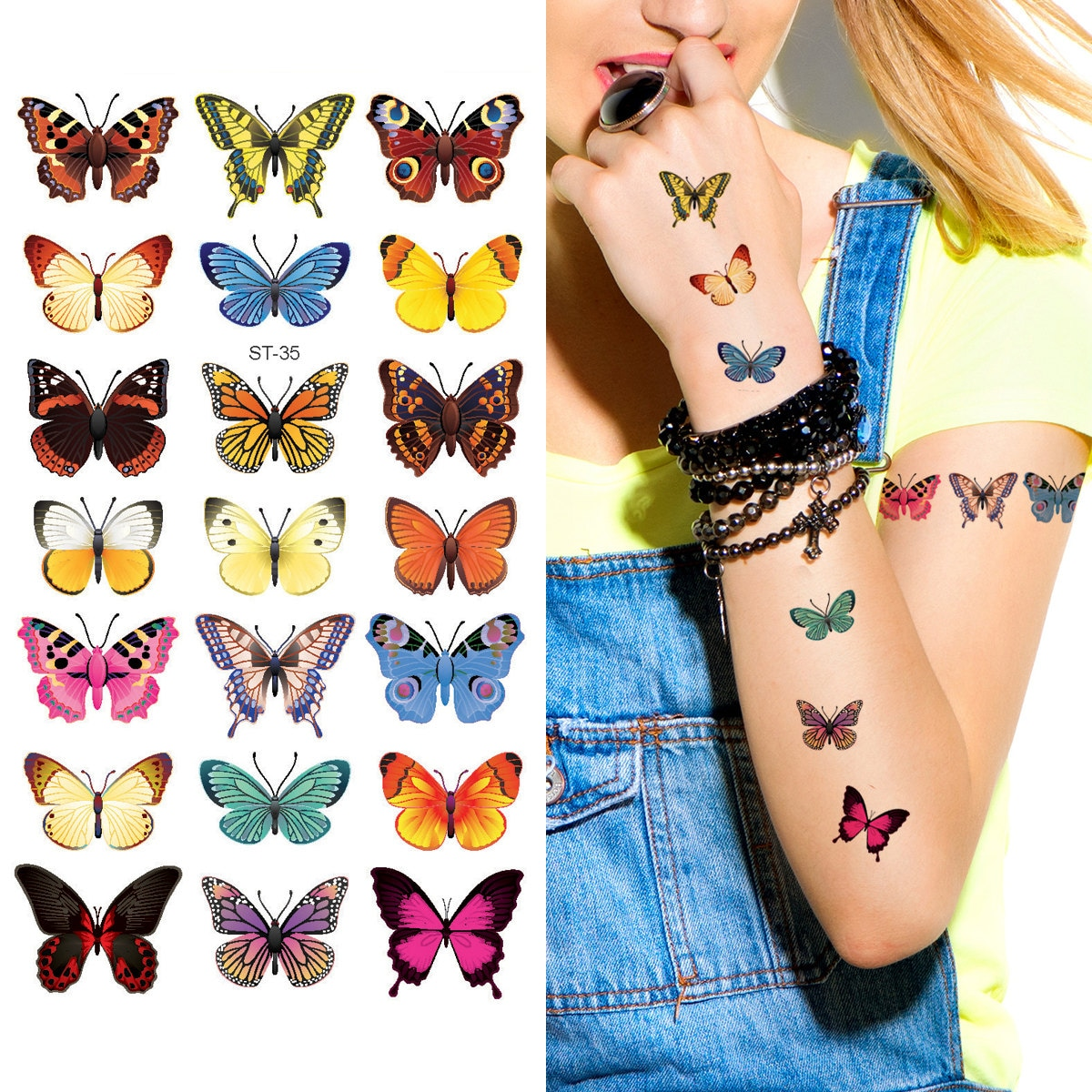 supperb tempor re tattoos 21 kleine schmetterlinge tattoo. Black Bedroom Furniture Sets. Home Design Ideas