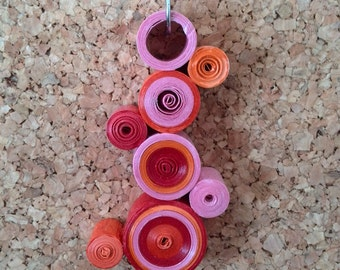Necklace in technical quilling