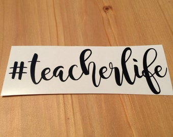 Teacher Life Decal, Yeti Monogram Decal, Personalized Vinyl Decal, Car Decal, Phone Decal, Laptop Decal, Water Bottle Decal