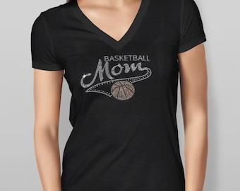 Basketball Mom Rhinestone Tshirt
