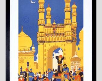 Travel Tourism India Charminar Monument Mosque New Fine Art Print Poster FECC4416
