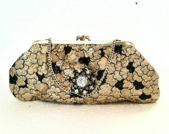 Vintage bag gold Lamé
