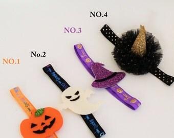 halloween,Halloween headband,baby headband, halloween headband,Pumpkin headband,pumpkin  headband,flet headband,witch hat