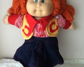 Cabbage Patch Kids doll,Cowgirl,  complete outfit, vintage 1978-1982