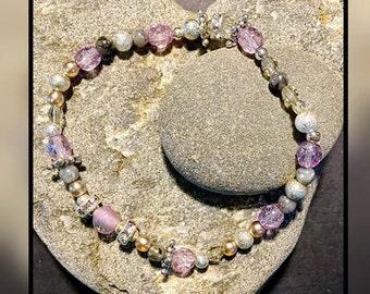 Lovely Lilac Stretch Bracelet