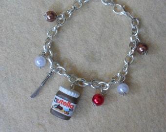 Bracelet nutella fimo miniatures