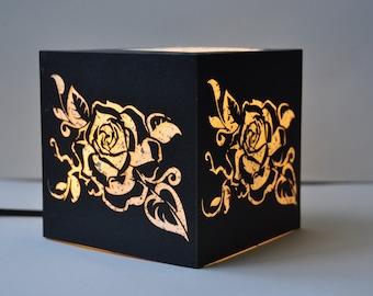 Speckled Rose Lamp
