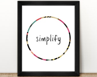 Simplify Print | 8x10"