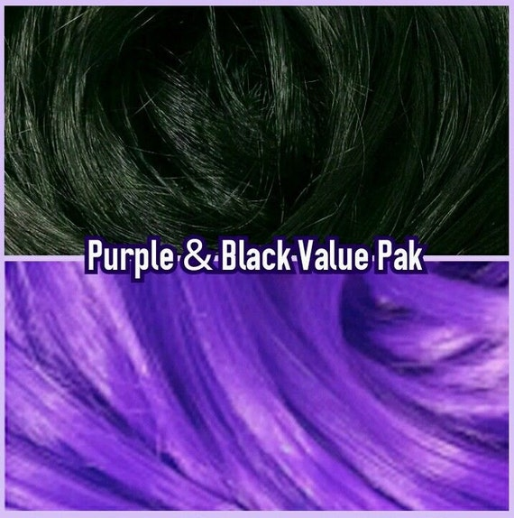 Black & Purple XL 4oz 2 Color Value Pak Nylon Doll Hair Hanks Rerooting Monster High Ever After Barbie My Little Pony Crissy Sindy