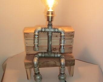 Steampunk lamp lamp lamp industry lamp INDUSTRIAL PIPE STYLE tube lamp designer lamp table lamp unique