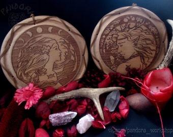Altar pentacle Godes and Horned God