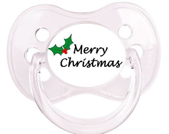 UNIQUE Dummy Pacifier Soother, All Teats, Sizes & Colours, MERRY CHRISTMAS 2