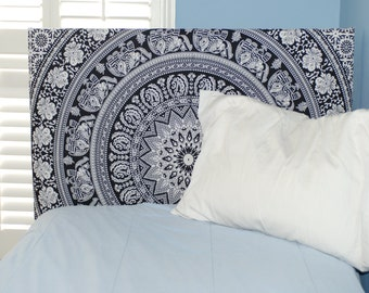 Dorm Headboard - Black & White Tapestry