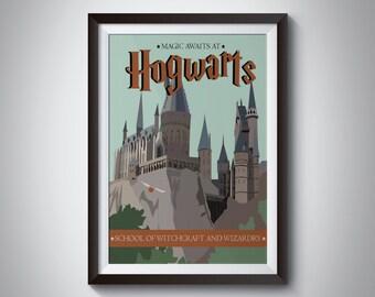 Hogwarts | Travel Poster | Instant Download