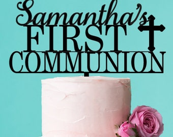 Personalized First Communion Cake Topper (FJM7902293-LXJM)