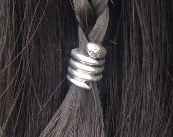Hair bead kit 'Lil Friend' Bead snake hair bead Celtic steampunk cosplay goth cute kawaii BOHO gypsy viking Slytherine TIBETAN ALLOY