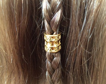 Hair bead kit 'Golden Lace' Bead STAINLESS STEEL hair bead Celtic steampunk cosplay goth cute kawaii boho viking hair bead
