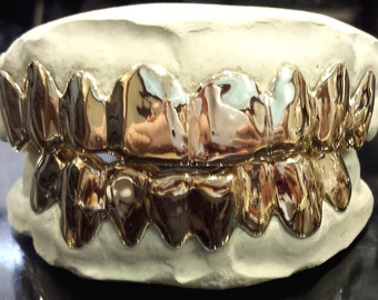 925 Sterling Silver Custom fit Grillz Plain Silver teeth REAL Grill Grillz.