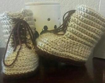 Crochet Combat Boot Photo Prop
