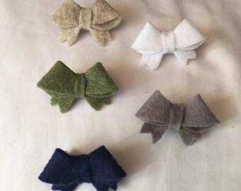 Set of 5 Bow Lapel Pins