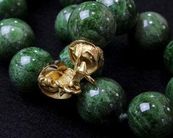 """Massive Tzavorrite necklace """"green garnet"""""""