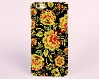 Black Floral Flowers iPhone 7 Case, iPhone 7 plus Case, iPhone 6 Plus Case, iPhone 6 Case, iPhone 6s Case, iPhone 5s Case, iPhone tough Case