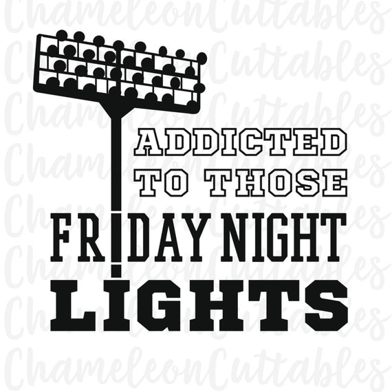 Football Stadium Night Lights: Friday Night Lights Svg Football Fall By ChameleonCuttables