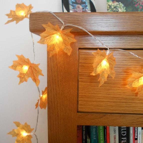 Maple Garland String Lights : Autumn Leaves Fairy Lights / String Lights Wedding