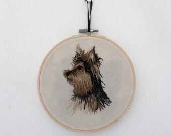 "SALE! Yorkshire terrier, Jack Russel portrait Embroidery 6"""