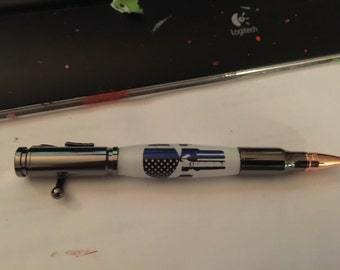 Thin blue line pen