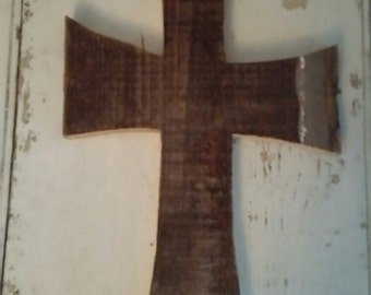 Antique Barn Wood Cross 002