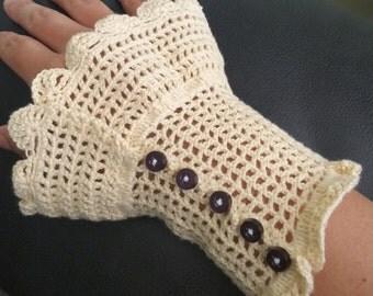 Crocheted cuff (pair)